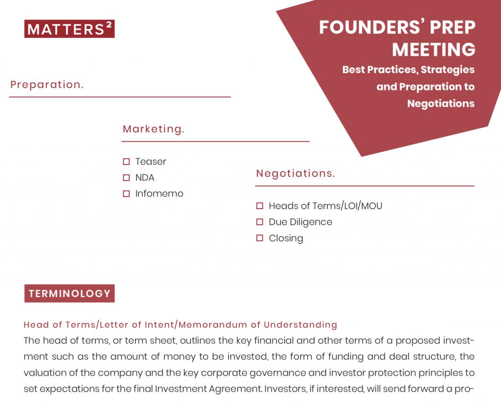 Founders Prep Meeting